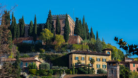 Exterior of Castel San Pietro in Verona, Italy Royalty Free Stock Photo