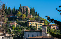 Exterior of Castel San Pietro in Verona, Italy Stock Images