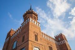 Exterior of Castell dels tres dragons, Barcelona Stock Photos