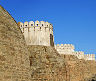 Exterior Castle bastions Kumbhalghar Fort Stock Image