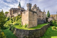 Castle in Czech Republic. Exterior of castle in Frydlant city - one of the most visited tourist attraction in Czech Republic stock image