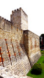 Exterior of castle st. Jorge Stock Image