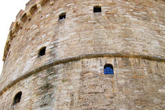 Exterior castle wall. Details of a medieval castle wall royalty free stock image