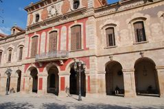 Exterior catalán del parlamento, Barcelona Foto de archivo libre de regalías
