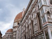 Exterior of cathedral of Florence Stock Photos