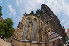 Exterior of the cathedral in Meissen, Germany. royalty free stock images