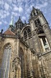 Exterior of the Cathedral o fMeissen. Facade of the Cathedral of Meissen Stock Photos