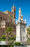 Exterior Cathedral of Palermo Stock Photos