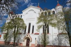 Exterior of the Cathedral of the Theotokos in Vilnius, Lithuania. Stock Photography