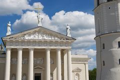 Exterior of the Cathedral in Vilnius, Lithuania. Royalty Free Stock Photography