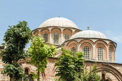 Exterior of Chora Church, Ancient Byzantine Church in Istanbul, Stock Image