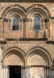 Exterior of Church of the Holy Sepulchre stock images