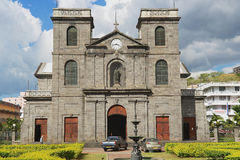 Exterior of the church of Immaculate Conception in Port Louis, Mauritius. Royalty Free Stock Image