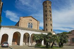 Exterior of the Church of Saint Apollinare Nuovo in Ravenna, Italy. Royalty Free Stock Image