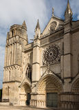 Exterior of the church of St Peter in Poitiers Stock Images
