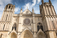 Exterior of the church of St Peter in Poitiers Stock Photo