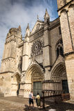 Exterior of the church of St Pierre in Poitiers Stock Photography