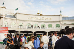 Exterior of Churchill Downs Horse Race Track in Louisville, Kentucky USA Royalty Free Stock Photos