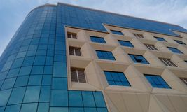 Exterior cladding of an high rise residential building and finished with an GRP cladding. Exterior cladding high rise residential building finished grp stock photography