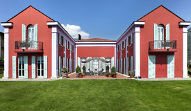 Exterior classical style villa Stock Image