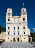 Exterior collegiate church in Mondsee Stock Photography