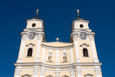 Exterior collegiate church in Mondsee Royalty Free Stock Photography