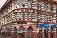 Exterior of the colonial architecture building in Colombo, Sri Lanka. Royalty Free Stock Photo