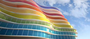 Exterior colorful Royalty Free Stock Image