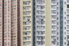 High rise residential building in Hong Kong city. Exterior of high rise residential building in Hong Kong city royalty free stock images