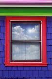 Exterior colorido de la ventana Fotos de archivo