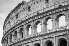 Exterior of Colosseum or Coliseum, monochrome Royalty Free Stock Images