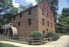 Exterior of Colvin Run grist mill Stock Images