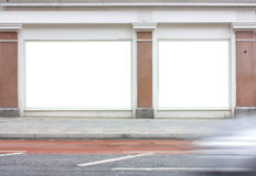 Exterior of a commercial unit or shop with blank windows Royalty Free Stock Images