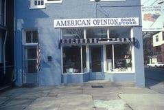 Exterior of conservative American Opinion Book Store, Richmond, VA Stock Photo