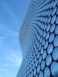 Exterior constructivo curvado circular lisa azul Fotos de archivo