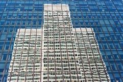 Exterior of contemporary glass business center Stock Image