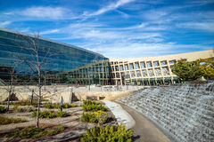Exterior of the contemporary Salt Lake City Public Library. SALT LAKE CITY, UTAH - OCTOBER 1: EXterior of the contemporary Salt Lake City Public Library on Royalty Free Stock Photos