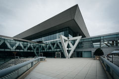 The exterior of the Convention Center, in Baltimore, Maryland. royalty free stock photography
