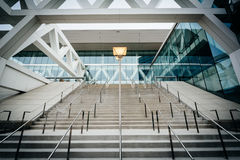 The exterior of the Convention Center, in Baltimore, Maryland. Royalty Free Stock Images