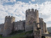 Exterior of Conwy Castle, Wales stock photo