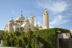 Exterior of Coptic Orthodox Church in Sharm el Sheikh, Egypt royalty free stock image