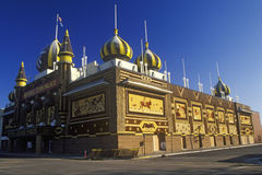 Exterior of Corn Palace, roadside attraction in West Mitchell, SD Royalty Free Stock Photography