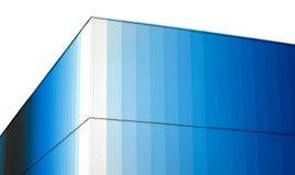 Exterior Corner of Modern Blue Glass Building Stock Photo