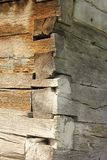 Exterior corner of traditional wooden church Royalty Free Stock Images