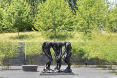 Exterior Courtyard Rodin Statues of North Carolina Museum of Art Stock Photography