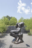 Exterior Courtyard Rodin Statues of North Carolina Museum of Art Royalty Free Stock Photo