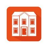 Exterior cute house icon Stock Photo