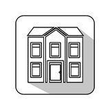 Exterior cute house icon Royalty Free Stock Images