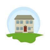 Exterior cute house icon Stock Photos
