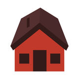 Exterior cute house icon Royalty Free Stock Photo
